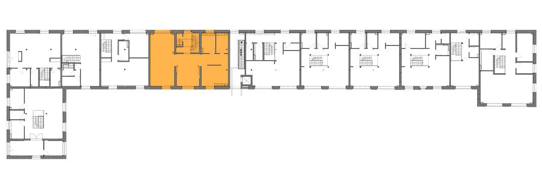 Lageplan der Remise Stadthaus 5 Risalit
